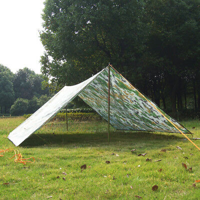 Digital Camouflage Camping Hiking Trail Tent Tarp Shelter Waterproof Outdoor