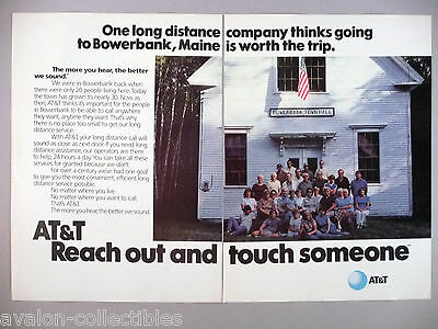 AT&T Telephone Double-Page PRINT AD - 1984 ~~ Bowerbank, Maine