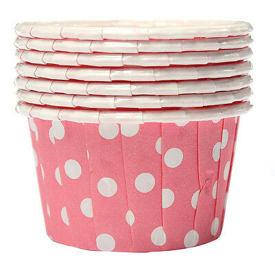 100X Cupcake Wrapper Paper Cake Case Baking Cups Liner Muffin Pink ED