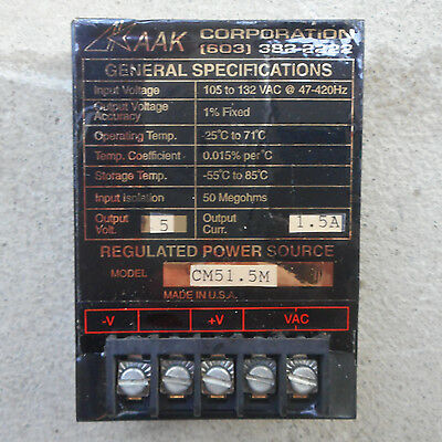 AAK Corp. CM51.5M Regulated Power Source