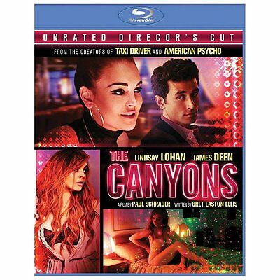 The Canyons (Blu-ray Disc, 2013, Director's Cut) Lindsay Lohan, James Deen