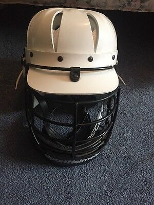 Lacrosse White Helmet With Protective Guard Size Medium Brand New!