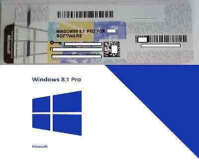 WINDOWS 8.1 Pro Professional 32/64 BIT Licenza Product Key OFFERTA MICROSOFT