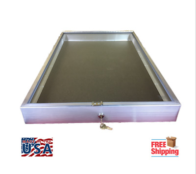 Aluminum Display Case  #1170 End Opening  22 x 34 x 3 1/4 with Keyed Lock