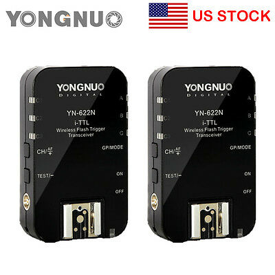 Yongnuo YN-622N Wireless TTL Flash Trigger HSS 1/8000s Flash Ratio for Nikon US