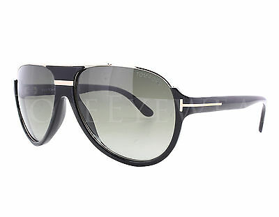 NEW Tom Ford Dimitry FT0334 01P Black Gold / Green Fade Sunglasses