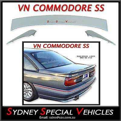 Ss Rear Spoiler For Vn Commodore Sedan - 3 Piece Boot Wing New Bobtail