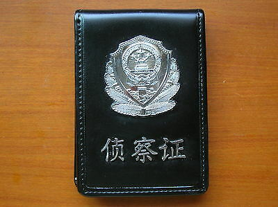 1999's series China Police Badge Certificate ID Holder,Scout,Cattle Leather