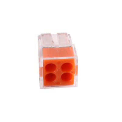 10Pcs 4 Holes Wago 773-104 Electrical Push Connector Wire Cable Block Terminal