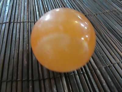 Orange Selenite Sphere Shaped Metaphysical Healing 150g