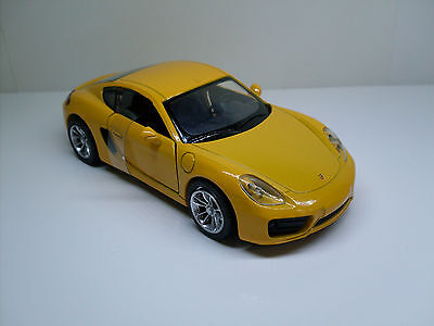 Porsche Cayman (981) Yellow, Newray Finshed Model Display Model 1:3 2