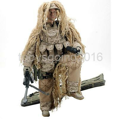 1/6 Scale US Army Soldier Desert Sniper Action Figure Toy 12 inch