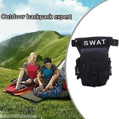 Outdoor Tactical Military Leg Pack Waist Bag Molle Pouch Camping Hiking Camera T