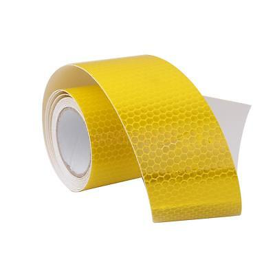 Roll Of 3M Yellow Reflective Safety Warning Conspicuity Tape Film Sticker