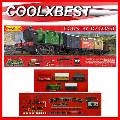 New Hornby Country To Coast Train Set Lner 040 Passenger & Freight Oo R1201