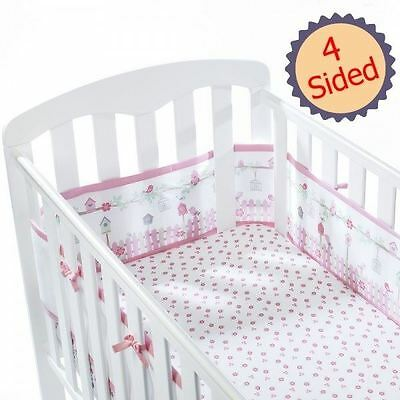Breathable Baby 4-Sided Cot Mesh Liner - English Garden