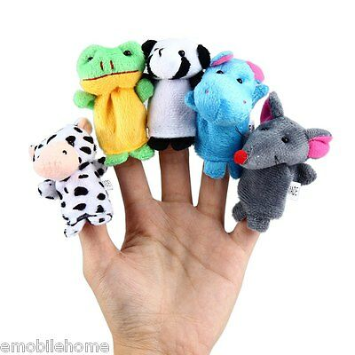 10 Pcs Educational Finger Puppets Cloth Doll Cartoon Animal Toy