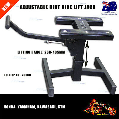 Adjustable Motorcycle MX Dirt Bike Trail Pit Bike Repair Service Stand Lift Jack