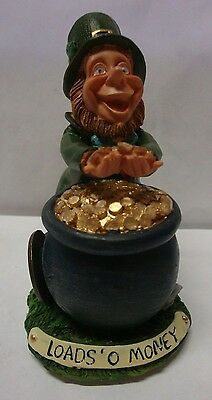IRELAND IRISH FINNIANS LEPRECHAUN POT OF GOLD Ornament LOADS OF MONEY