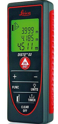 Leica Disto D2 Laser Distance Meter 3-Years Replacement Warranty - Free Shipping