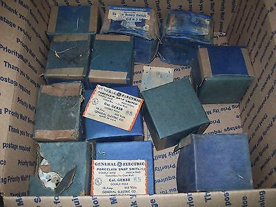 12 General Electric Porcelain Surface Rotary & Switch Double Pole  #GE838 NOS