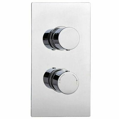 Premium TMV2 Concealed Thermostatic Shower Mixer Valve in Chrome with 2 Outlets