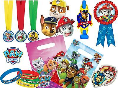 Paw Patrol Party Favours Childrens Birthday Party Bags Fillers Games