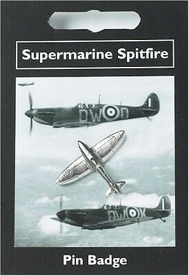 Supermarine Spitfire  Fighter Plane  -  English Pewter  Pin Brooch