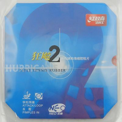 DHS NEO Hurricane2 /H2 (Attack/Loop) Table Tennis Rubber/Sponge, Melbourne