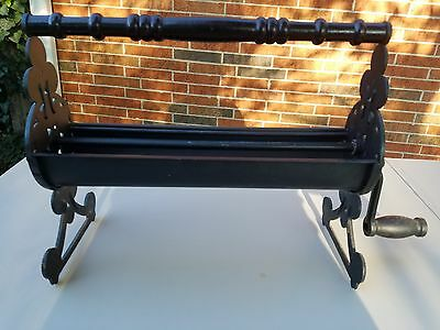 Vintage/Antique Cast Iron Paper Dispenser/Roller - Fireplace or General Store