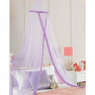 Childrens Sparkly Bed Canopy Netting Girls Insect Fly Mosquito Net