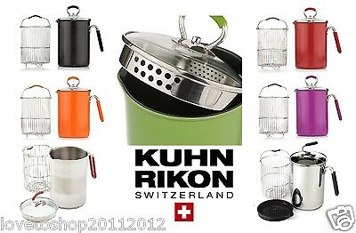 Kuhn Rikon Stainless Steel 2.5L Multi Pot with Basket & Lid 7 Colours!!