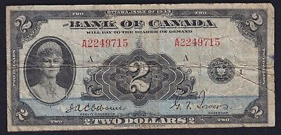 1935 Banque Du Canada $5 Banknote - French Issue - PCGS Very Fine 30
