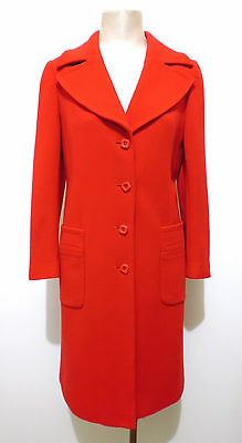 LUISA SPAGNOLI VINTAGE '70 Cappotto Donna Lana Wool Woman Coat Sz.M - 44