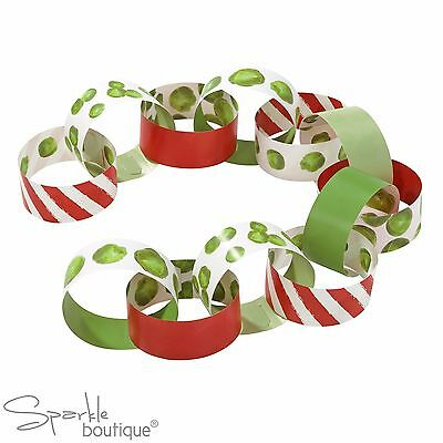 CHRISTMAS SPROUT PAPER CHAINS -Novelty Xmas Hanging Decorations- RANGE IN SHOP