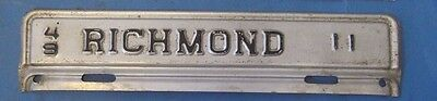 1949 Richmond City license plate from Virginia very good with low number 11
