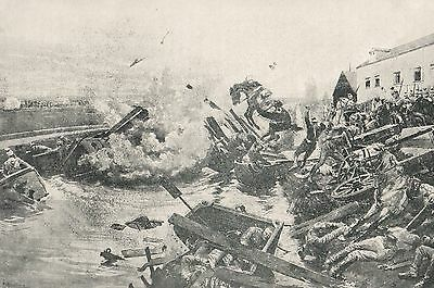 Military History Print, Ww1, Battle Of Mons, Crossing The Mons-Conde Canal 1914