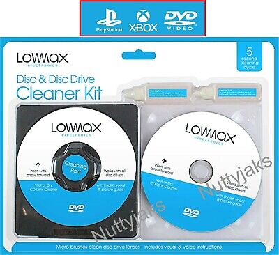 Laser Lens Cleaner Cleaning Kit for Playstation XBOX  BLURAY DVD PLAYER CD n.