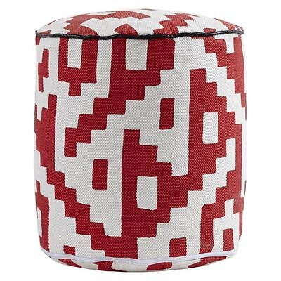 NEW j.elliot HOME Sadia Woven Cylinder Pouffe in Red