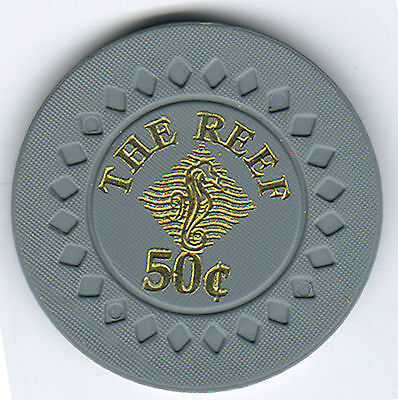 50c The Reef Cairns - Casino Chip - Straight line through the Cent Symbol