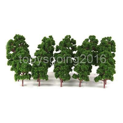 20x Mix Size Model Trees Deep Green For N HO Scale Layout Diorama Scenery