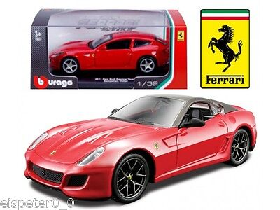 Ferrari 599 GTO + Display Cabinet, Bburago Car Model 1:3 2