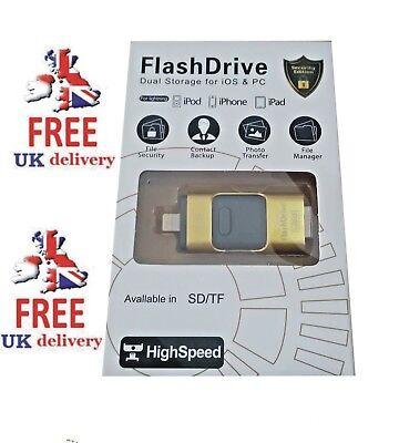 128GB Gold iFlash USB Memory Stick For iPhone/iPad/Andriod **MEGA SALE**