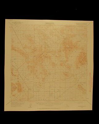 Ord Mountains California vintage 1960 original USGS Topographical chart