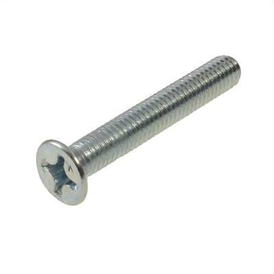 Pack Size 20 Zinc Plated Countersunk M6 (6mm) x 20mm Phillips Machine Screw