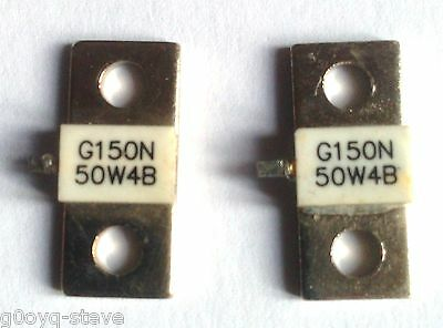 2pcs/Set 150W Dummy Load RFRFP150 Microwave Resistor Power Watt 50Ω 0-3GHz HH