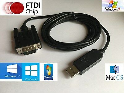1.8m USB to Serial Adapter FTDI CHIPSET RS232 WIN 7 & 8 DB9