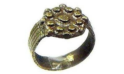 Ancient Roman Byzantine Constantinople Intricate Starburst Ring Pendant AD700