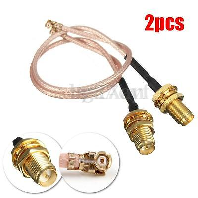 2Pcs 15CM RG178 RP SMA to uFL/u.FL/IPX/IPEX RF Female Coax Adapter Cable Network