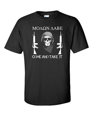 6829889eb5c MOLON LABE Come and Take It Pro Gun Control SECOND AMENDMENT Men s Tee  Shirt 893